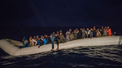 In Photos: Refugees Rescued in the Stormy Mediterranean