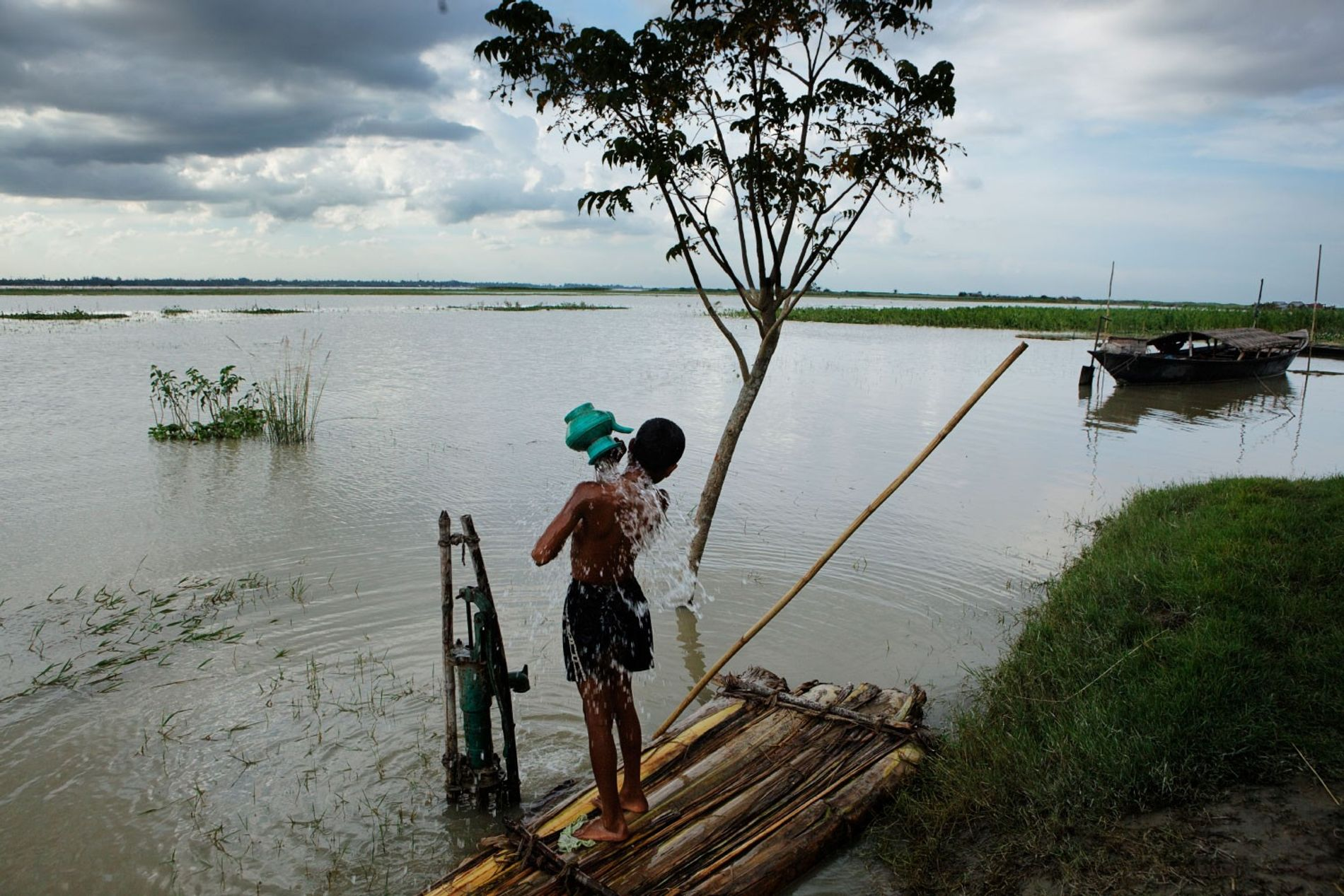 The Bramaputra River, Bangladesh. Some river locations in Bangladesh carry antibiotic levels 300 times higher than ...