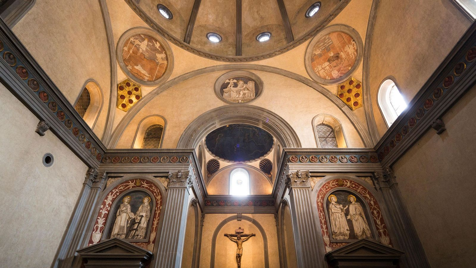 The Medici remains were interred in Sagrestia Vecchia, also known as Old Sacristy, Basilica of San ...