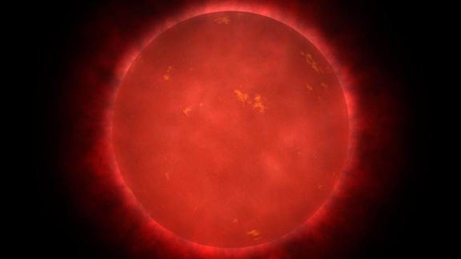 Seen here in an illustration, Teegarden's star is a very faint red dwarf about 12 light-years ...