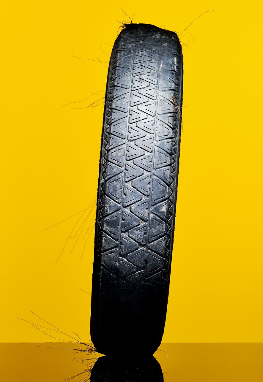 Small bits of degraded plastic from tyre wear pervade the environment, including the oceans, researchers are ...