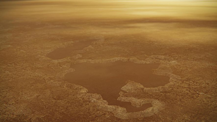 Explosions may have created weird lakes on Saturn's largest moon