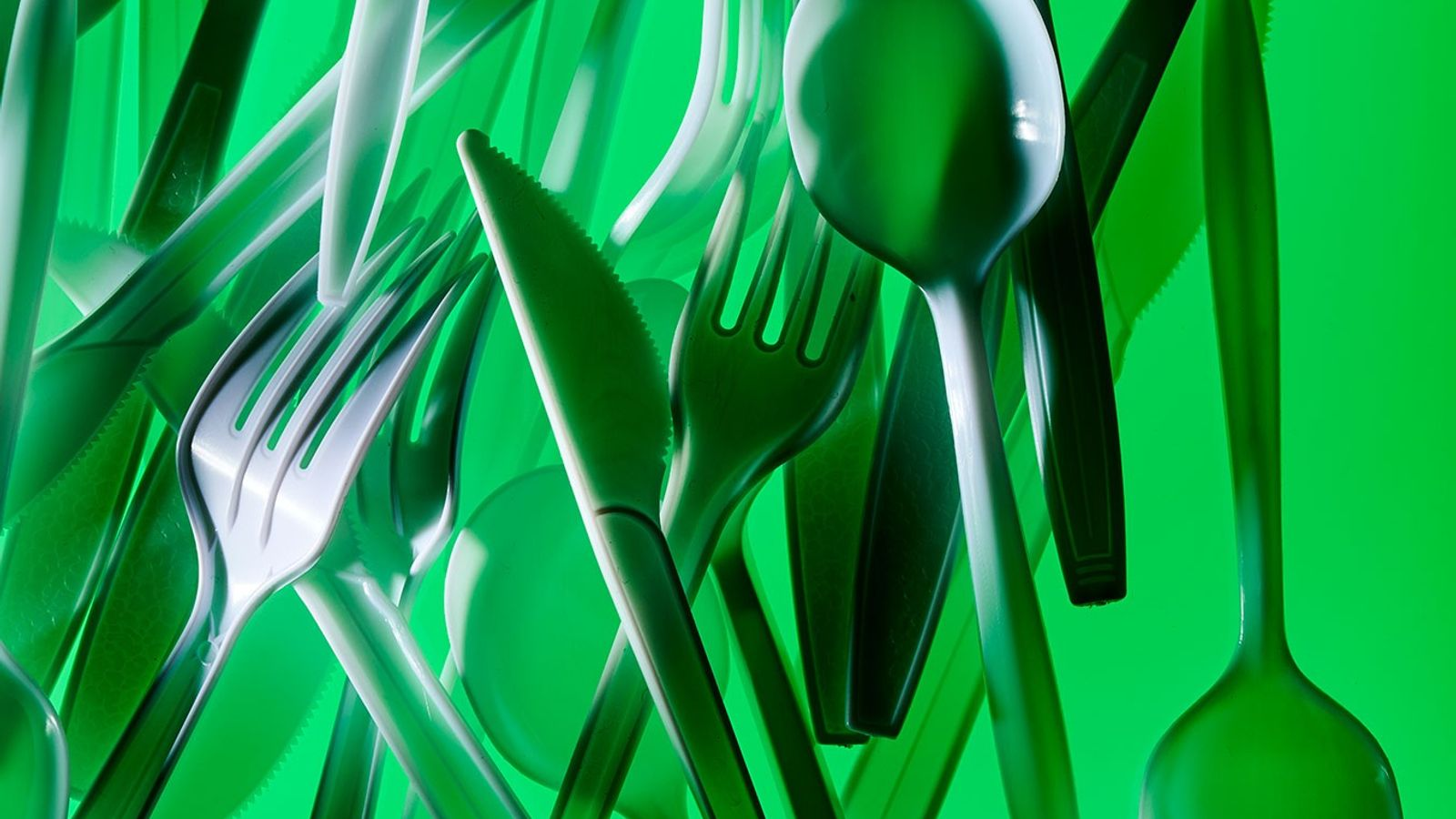 Like many plastic items, cutlery often finds its way into the environment, where it poses dangers ...