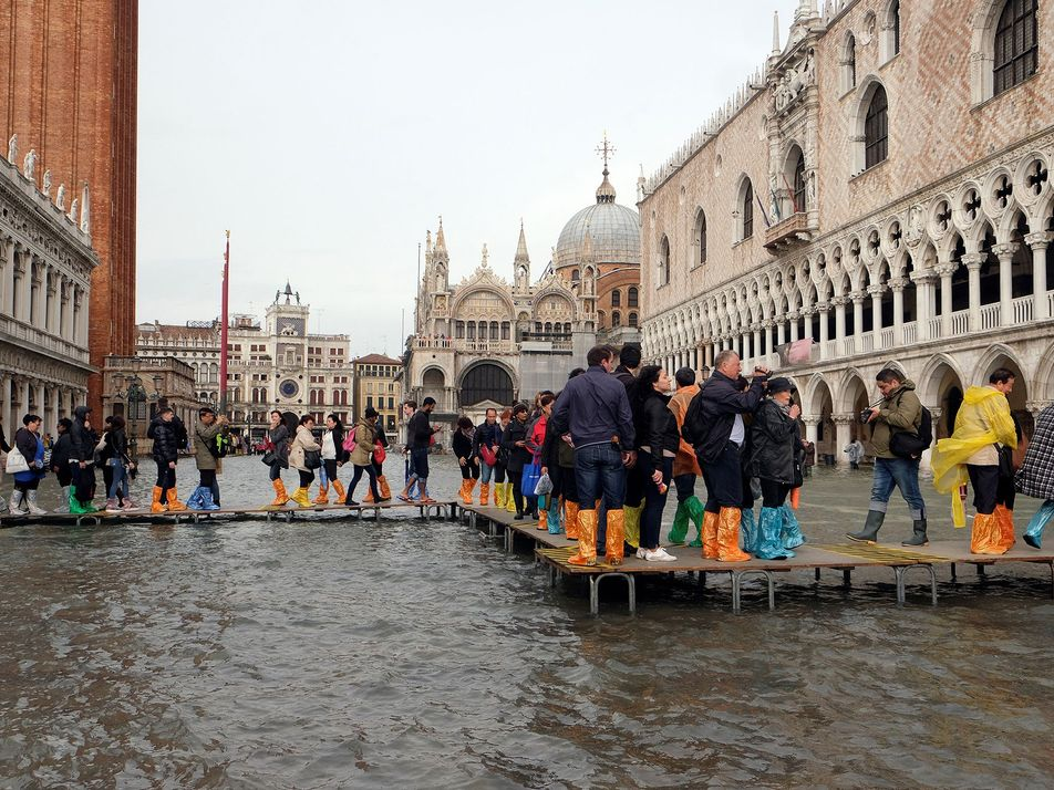 Dramatic Pictures Reveal Venice Flooding