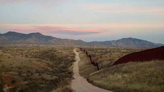 Donald Trump is pushing an expansion of the border wall between the U.S. and Mexico, seen ...