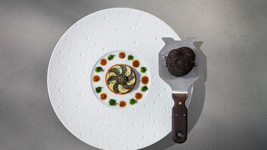 Philippe Chevrier's favourite ingredient is black truffle, which he loves to add to starters, mains and ...