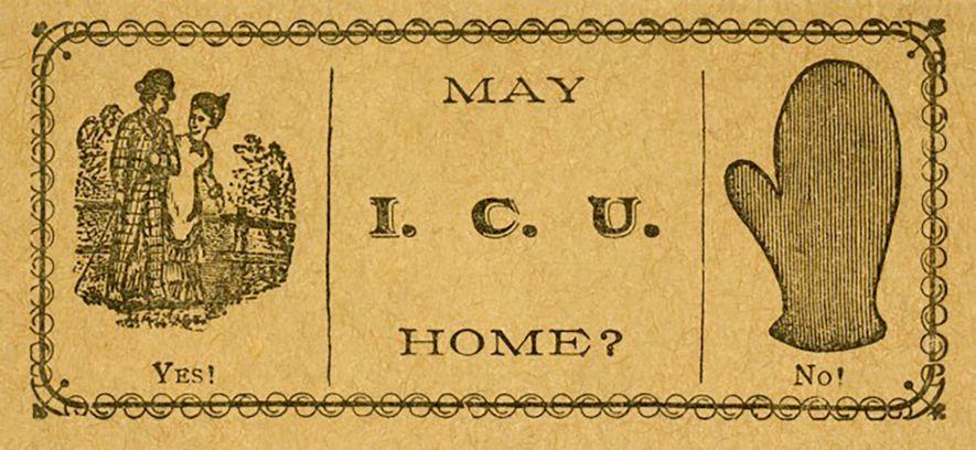 Saucy 'Escort Cards' Were a Way to Flirt in the Victorian Era