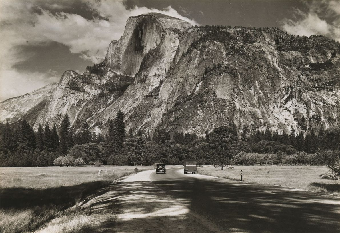Half Dome, here in 1931, has long been an iconic feature of Yosemite, which was established ...
