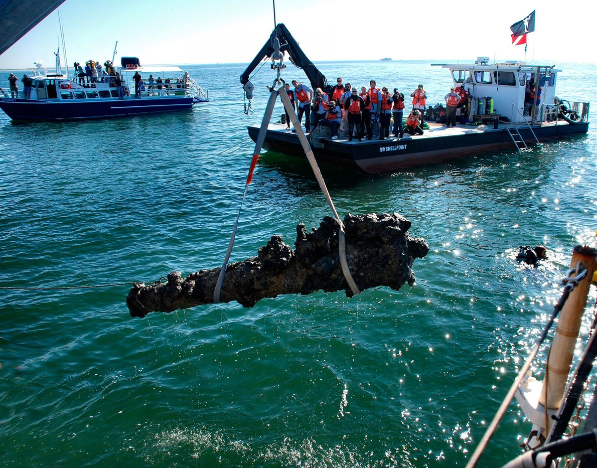 The discovery of the infamous pirate Blackbeard's ship Queen Anne's Revenge, off the coast of North ...