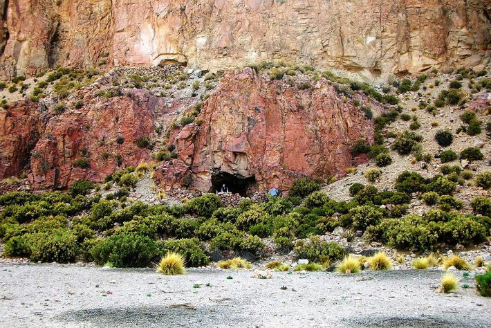 The entrance of the Cueva del Chileno cave in southwestern Bolivia, which has been intermittently occupied ...