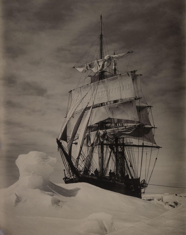The Terra Nova ship icebound in the pack.