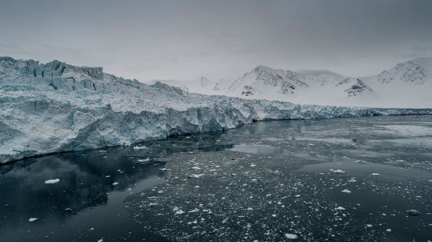 On Norway's Svalbard islands, on the eastern edge of Fram Strait, glaciers are melting and surging ...