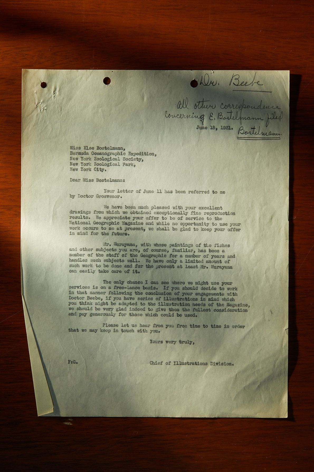 The basement of National Geographic holds letters, story drafts, and trip plans from the staff of ...