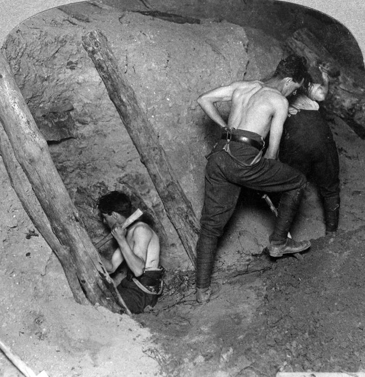 British tunnelers spent nearly two years burrowing under German lines near the Belgian village of Messines. ...