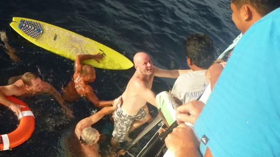 Brett Archibald fell overboard in the middle of the night. After he was rescued, he insisted ...