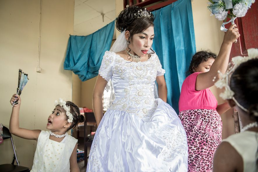 Asmat teacher Maria Fransiska (Chika) Danuk, 23, gets ready for her wedding. Researchers hope to learn ...