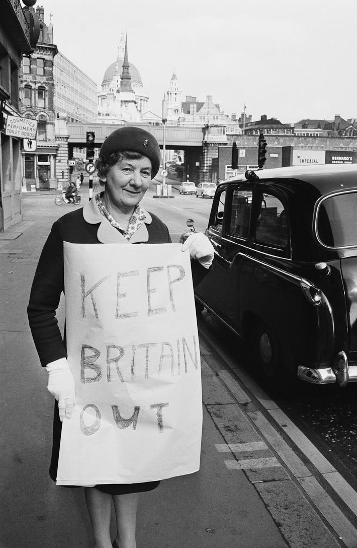 Before Brexit, Britons like Georgina Pellham-Kept protested again the original inclusion of the U.K. in the ...