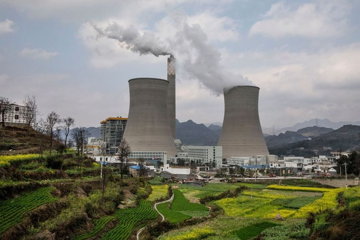 This coal-fired power plant in Guizhou province is one of China's newer ones. The country leads ...
