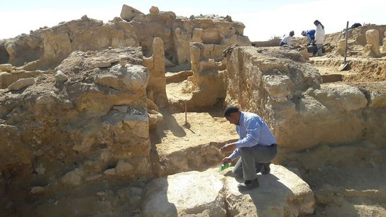 A newly discovered Greco-Roman temple was unearthed in Egypt's Western Desert.