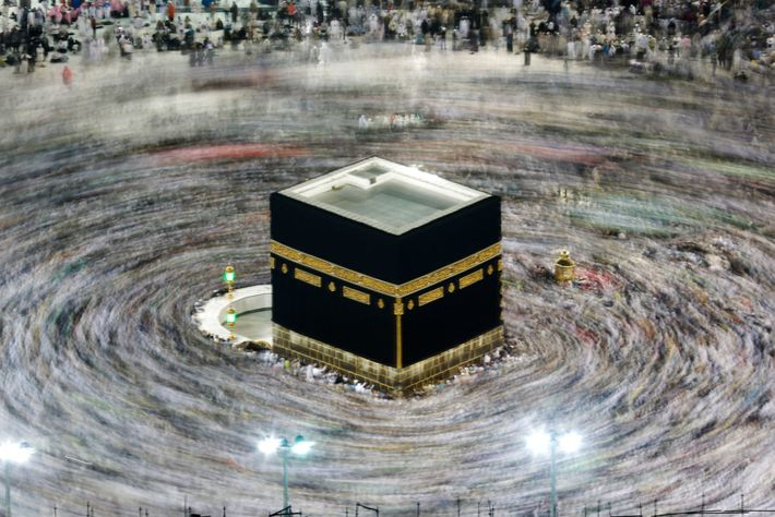 Muslims circumambulate the Kaaba during the hajj in August 2019. Every Muslim who is financially and ...