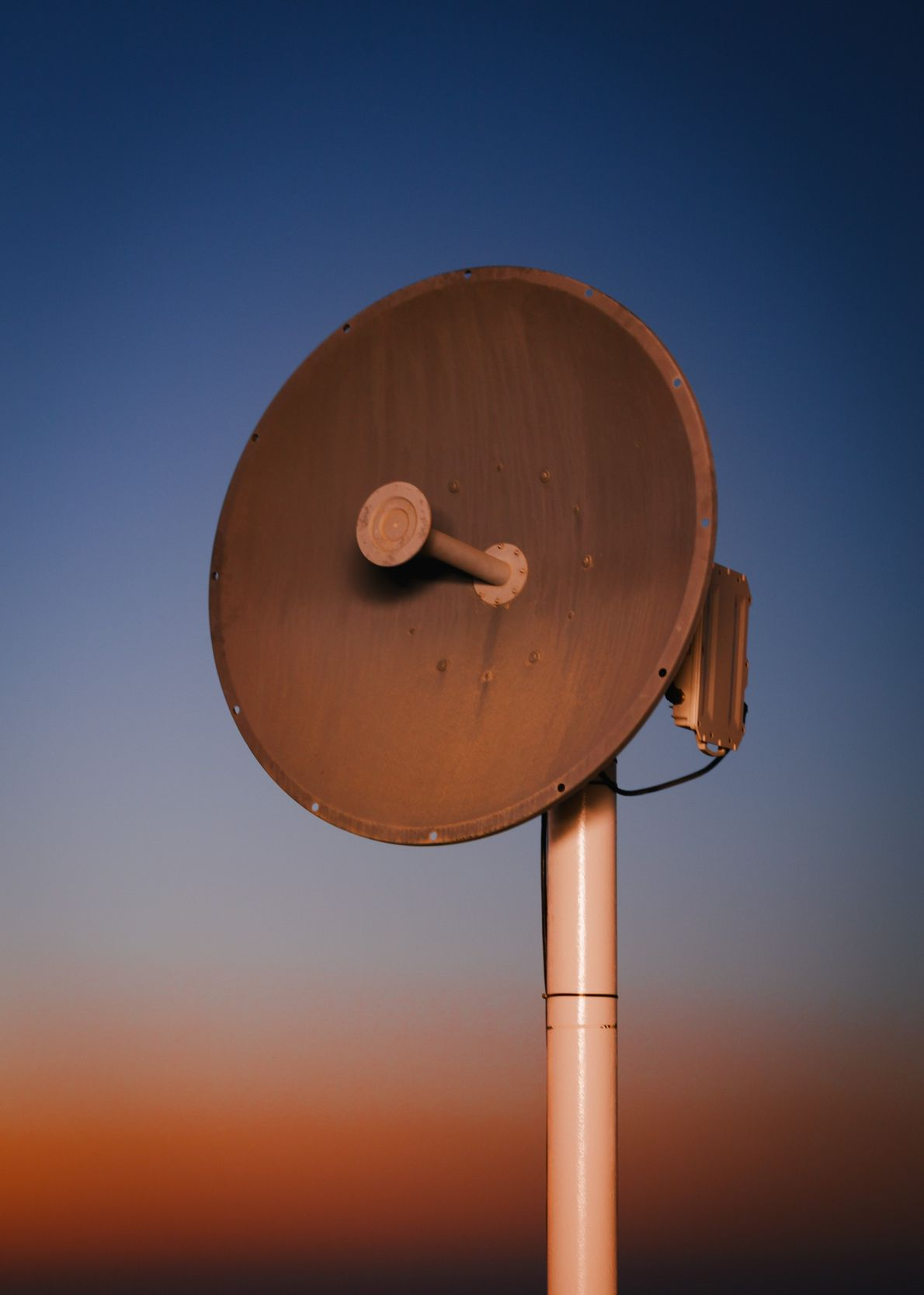 A microwave antenna provides communication services to Kepler Station, which was built in an undisclosed location ...