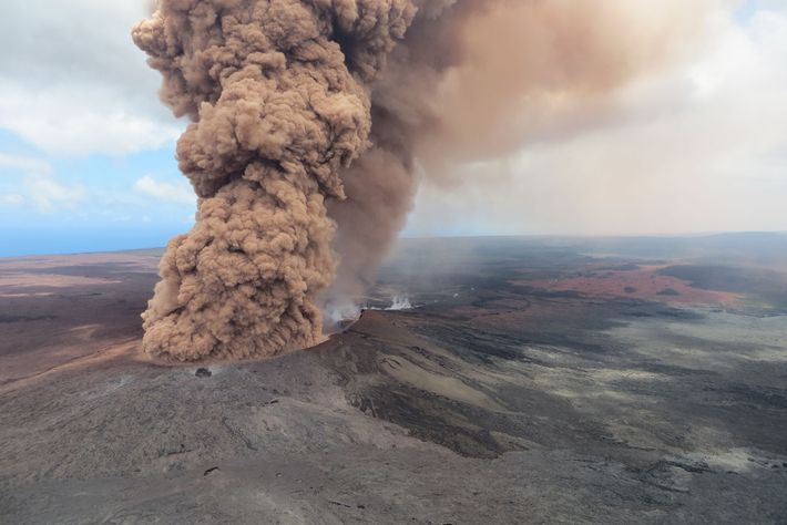 Kilauea is a shield volcano, with gentle slopes formed by oozing lava.