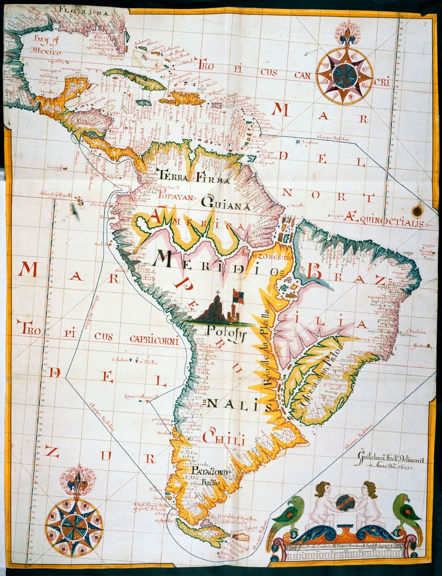 The pirate Bartholomew Sharpe hired London mapmaker William Hack to create an atlas based on a ...