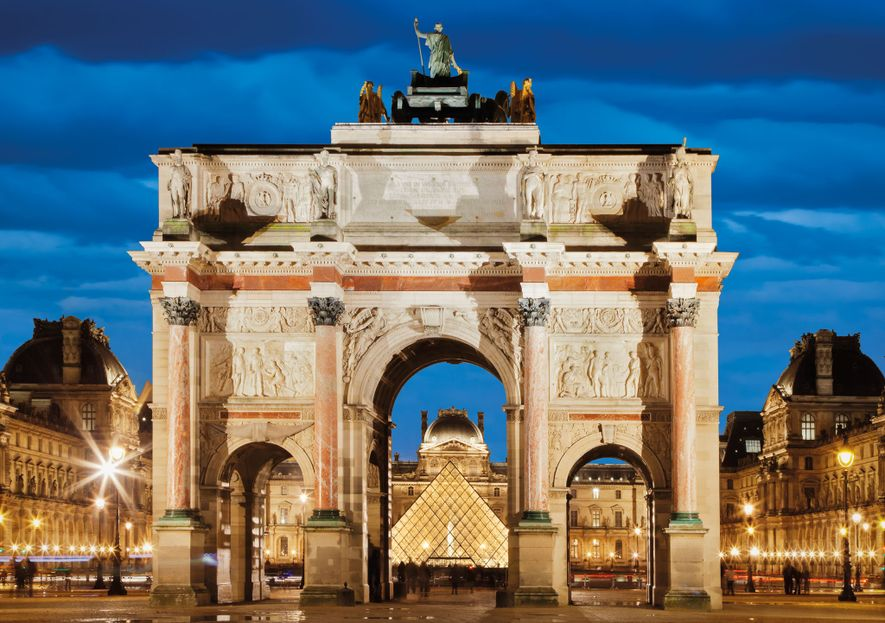 Place du Carrousel, which Napoleon's carriage crossed on the way to hear a concert in 1800, ...