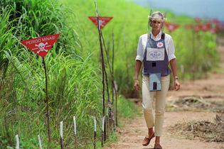 In 1997, Princess Diana strolled through the city of Huambo, in Angola, which had been heavily ...