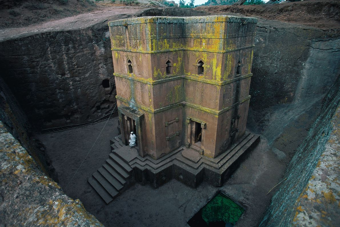 The World Heritage Site of Lalibela is famed for its striking churches, hewn from the surrounding ...