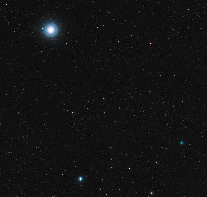 The red dwarf star Ross 128 sits in the constellation Virgo, the virgin.
