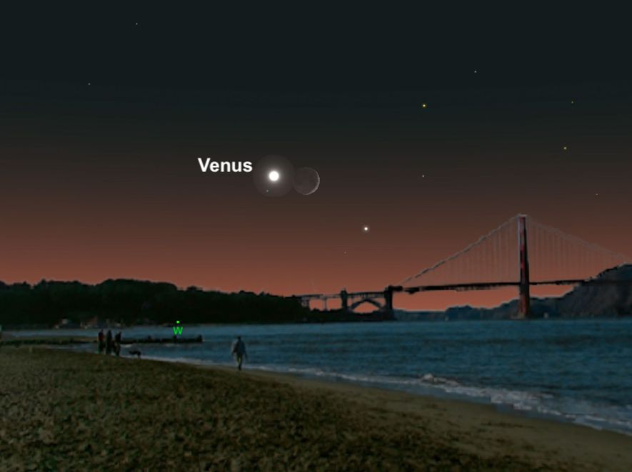 Venus and the crescent moon will make a stuning pair in July.