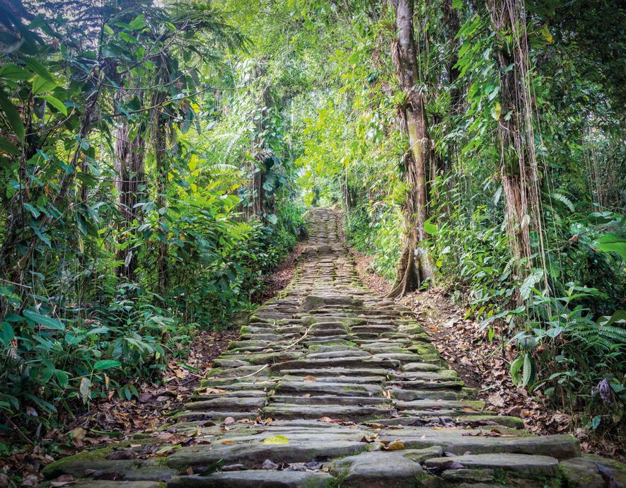 This stairway at Teyuna was part of a network of stairways and paved paths that linked ...
