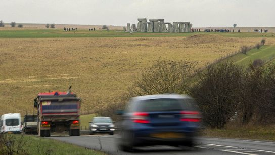 A traffic-snarled stretch of road near Stonehenge will be replaced with a tunnel, the British government ...