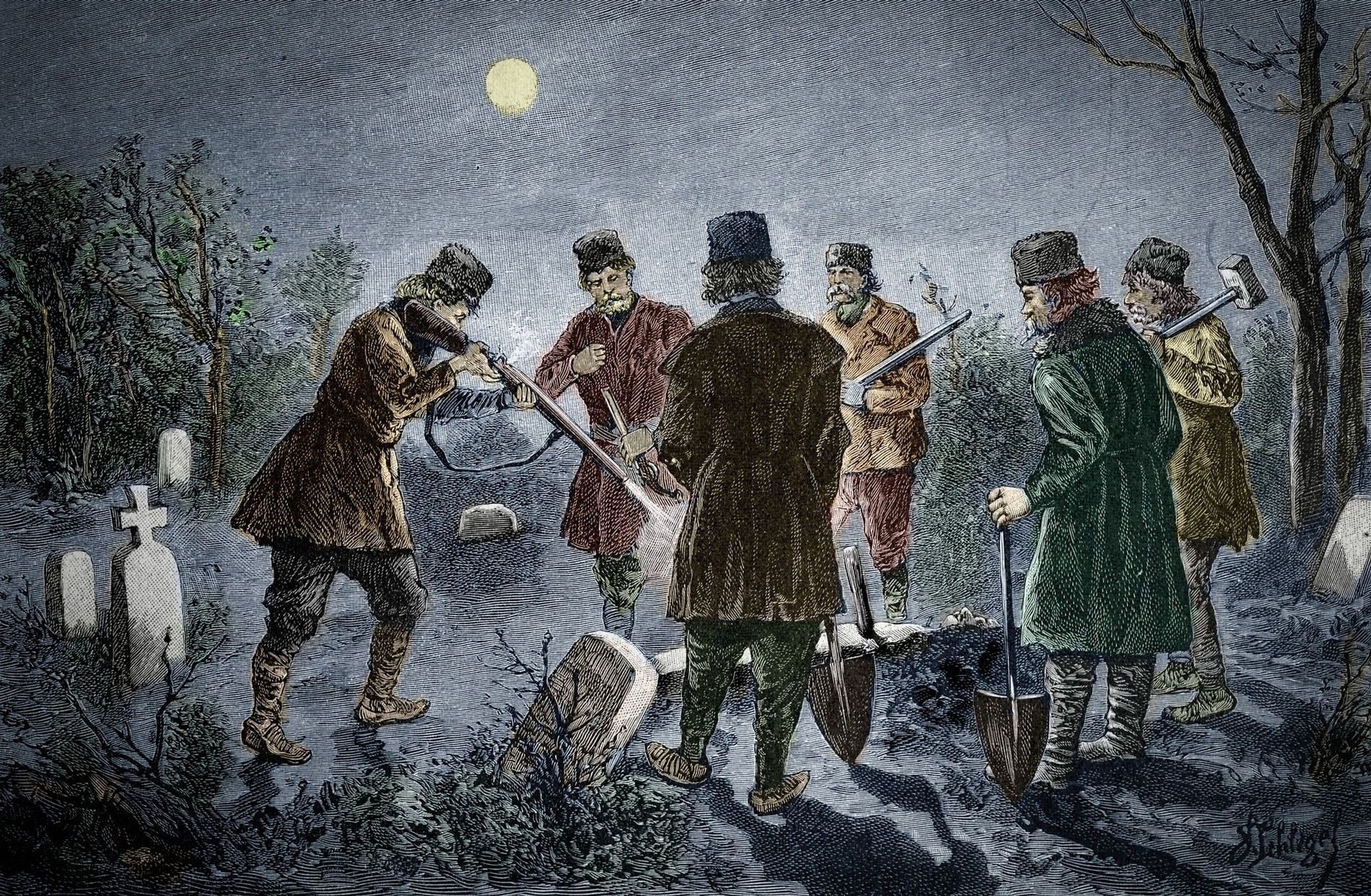 How did 18th-century vampire hunters identify the undead? Blood and  fingernails. | National Geographic