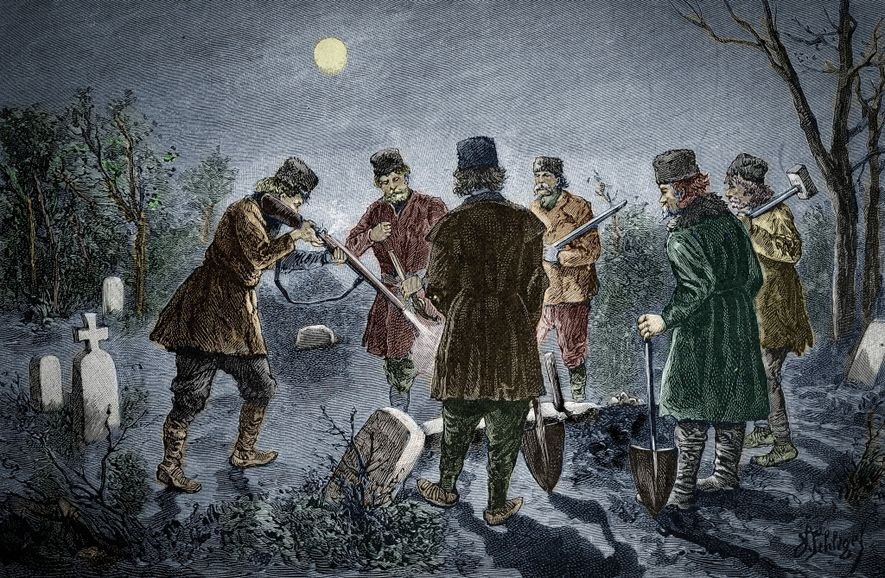 How did 18th-century vampire hunters identify the undead? Blood and fingernails