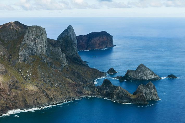 An aerial view of Trindade Island in Brazil, where the seal perished.