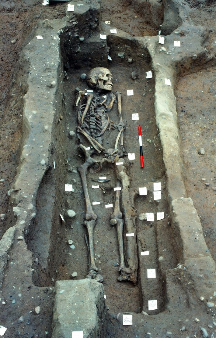 Later excavations, like this one from 1986, revealed nearly 300 people were buried at the site. ...