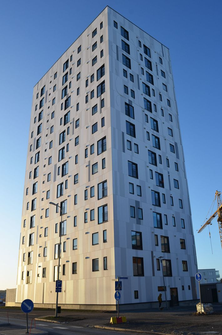 This apartment building in Joensuu  is, according to its designers, the tallest all-wood building in ...