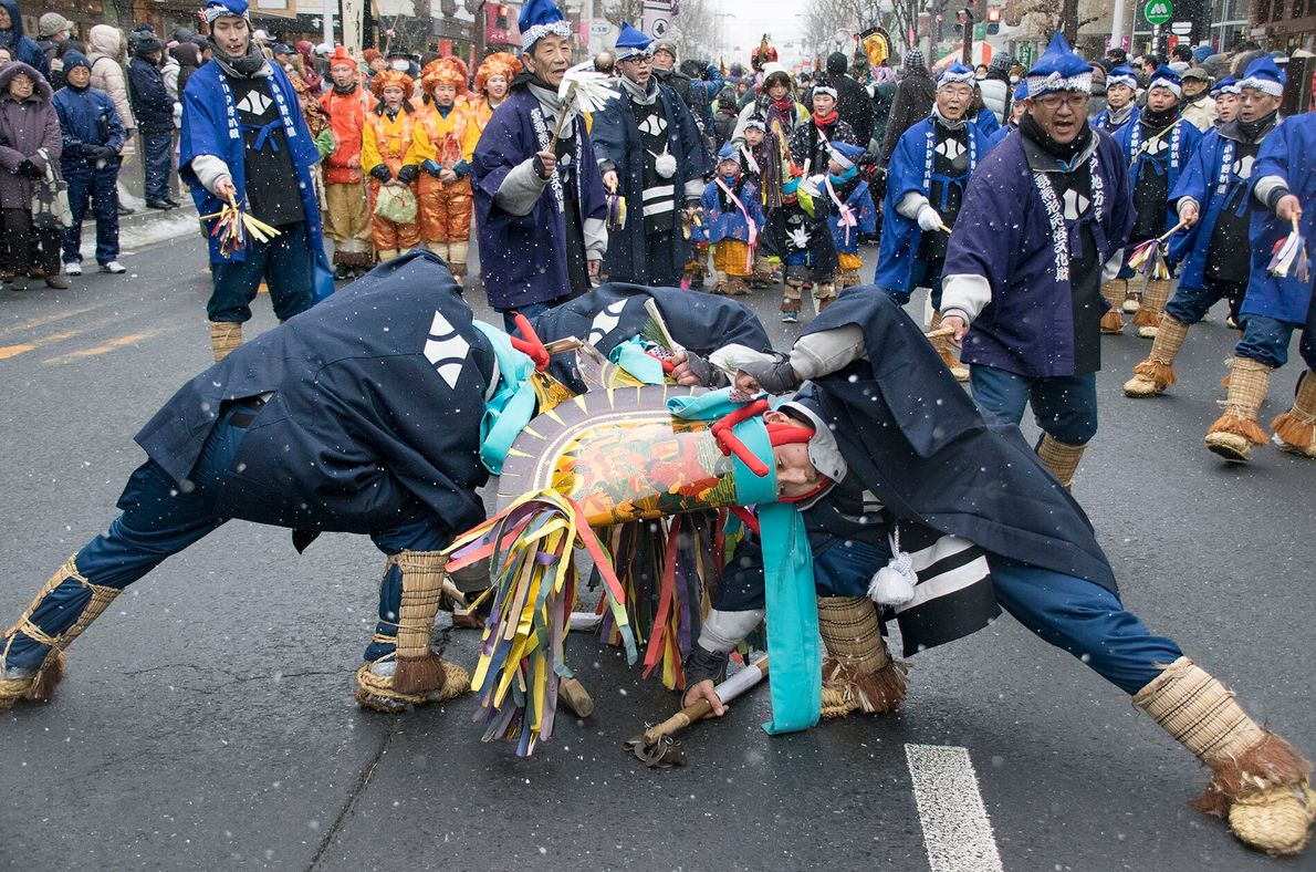 Hachinohe's Enburi festival, held every February in this northern city to usher in the spring, is ...
