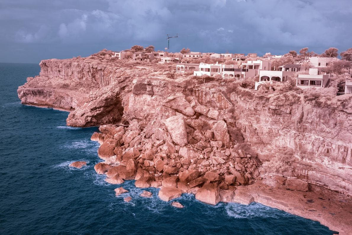 The region of Cala Llombards shows the effects of Mallorca's construction boom in the 1960 and ...