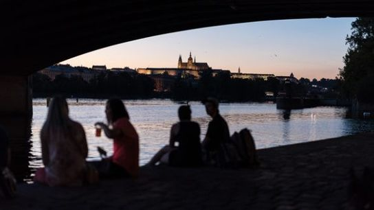 View of Vitava River and Prague Castle