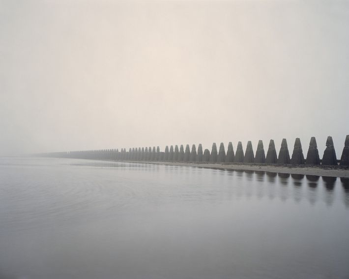 "Firth of Forth, Scotland, 2012. Marc Wilson: ""An anti-submarine barrier, known as 'the dragon's teeth', was built along the ..."