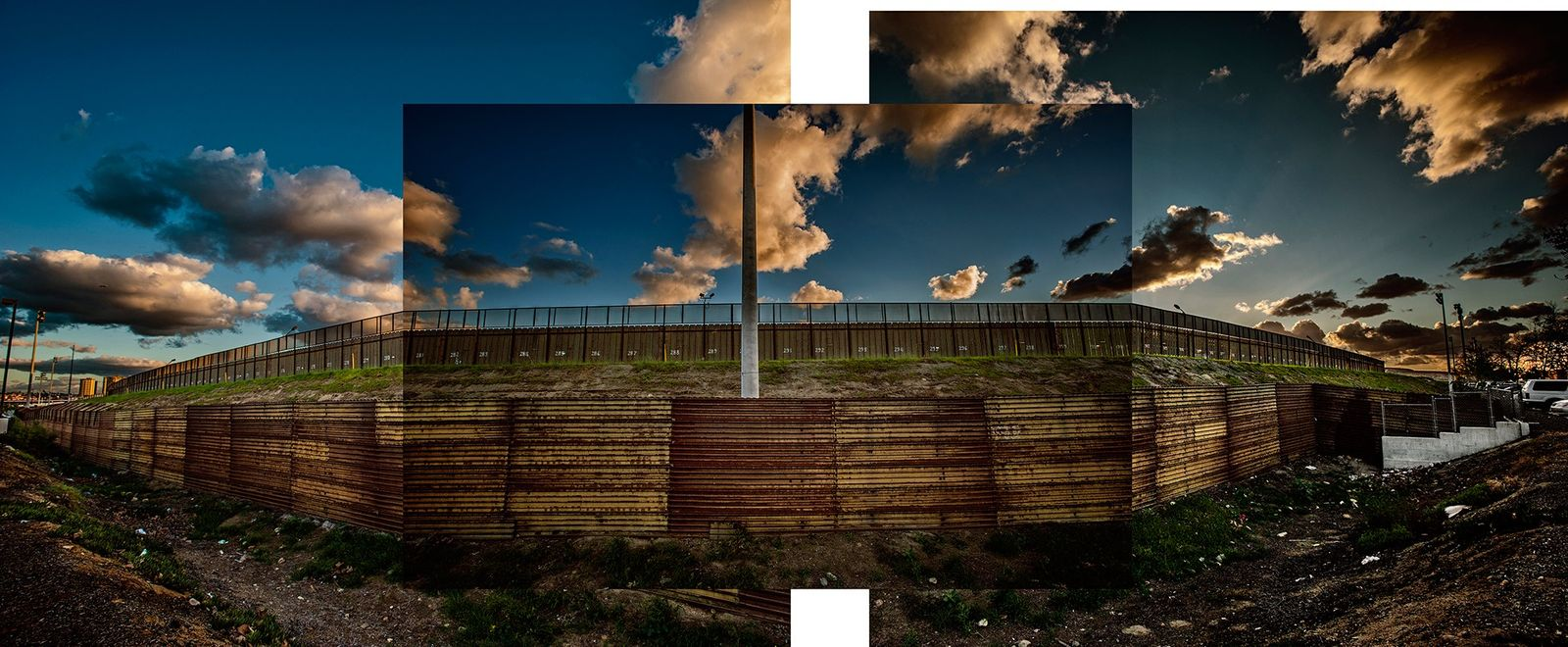 See the wall that President Trump wants to extend