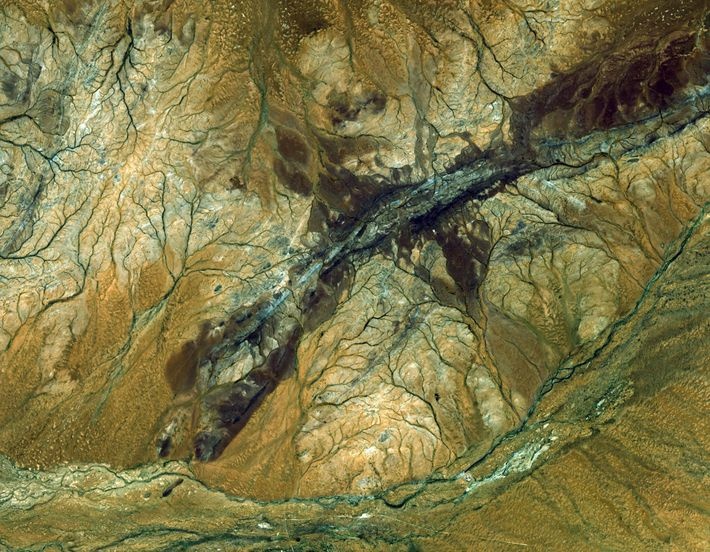 The ASTER satellite captured this image of the Jack Hills region of Australia. It is the ...