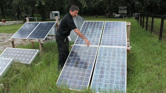 Nat Geo explorer T.H. Culhane describes how solar panels help power his home.