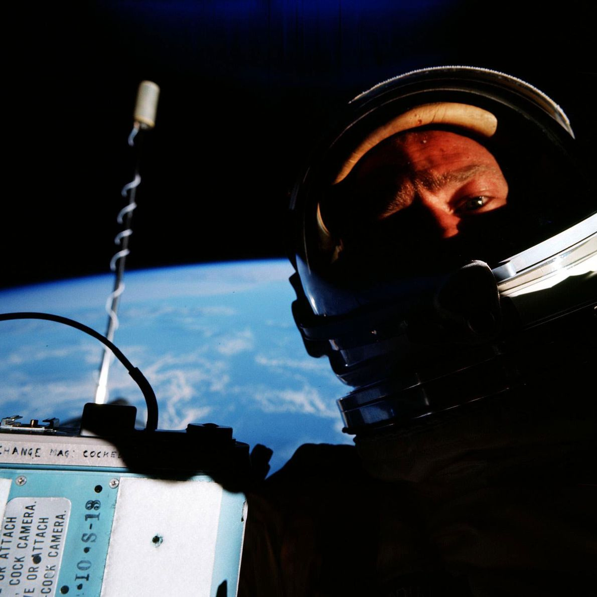 "Edwin ""Buzz"" Aldrin claimed that he took the first selfie in space while he piloted the ..."