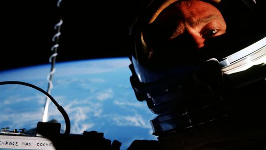 """Edwin """"Buzz"""" Aldrin claimed that he took the first selfie in space while he piloted the ..."""