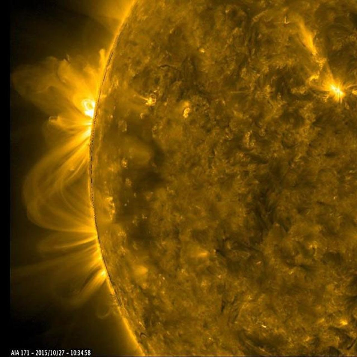 Planets aren't the only celestial bodies that can kick up a tempest. On the sun, regions ...
