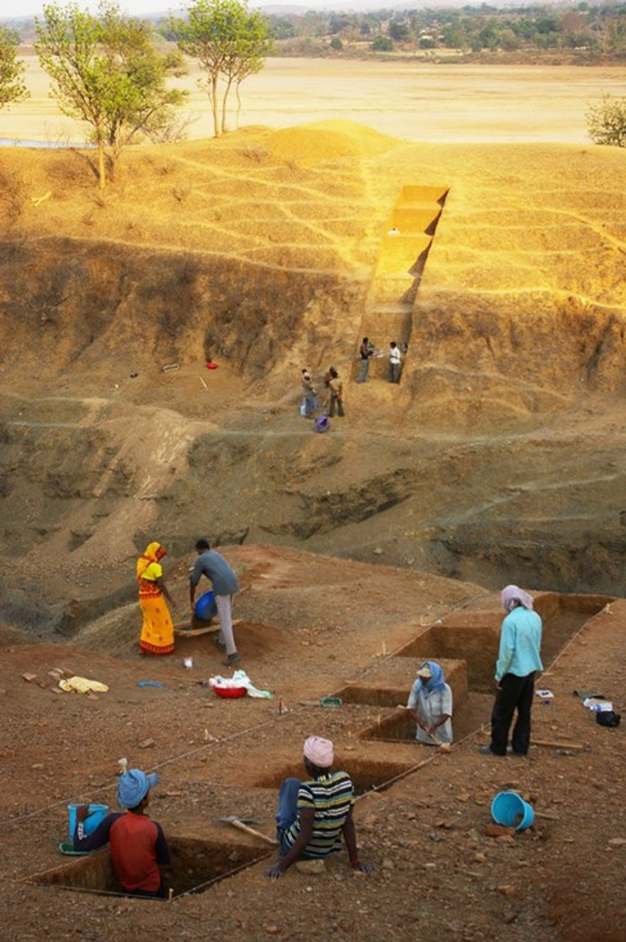 Excavations at the Dhaba site in Madhya Pradesh, central India.